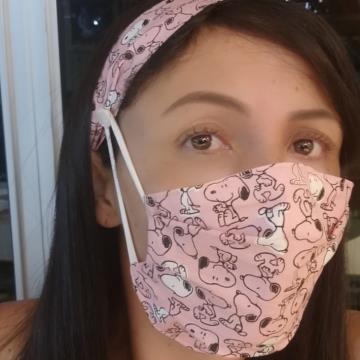 Conjunto de Máscara e Tiara Arte em Linha