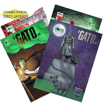 Combo Cyberpunks /01 e 02/ + O Gato /01 e 02/ - Edições Digitais (com extras incluso)