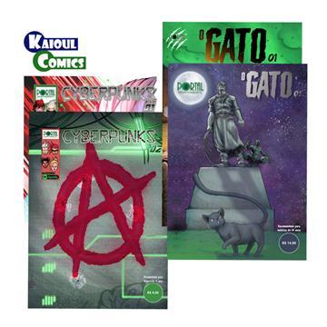 Combo Cyberpunks [01 e 02] + O Gato [01 e 02] - Edições Digitais (com extras incluso)