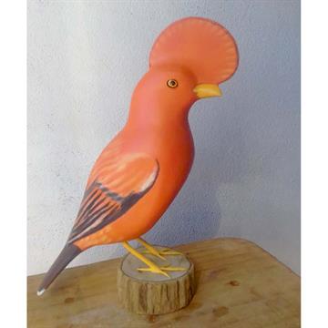 Galo-da-serra - Miniatura em madeira Valdeir José