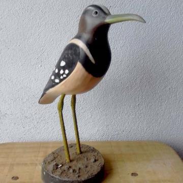 Narceja-de-bico-torto - Miniatura em madeira Valdeir José