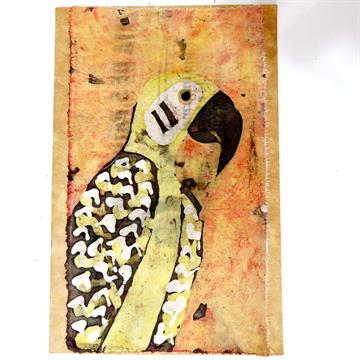 Papagaio 2 - Cartão Artesanal - BATIK