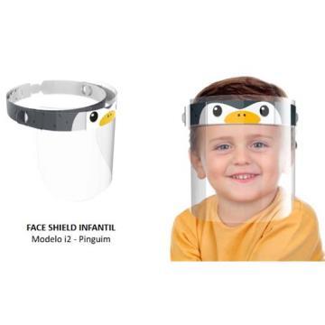 Protetor Facial Infantil - Pinguim
