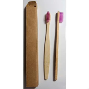 Escova dental biodegradável haste de bambu - LILÁS