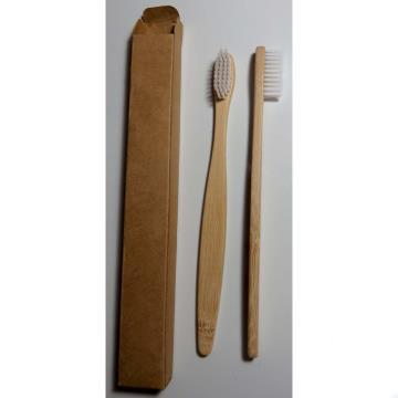 Escova dental biodegradável haste de bambu - BRANCO