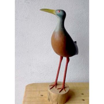 Saracura-três-potes - Miniatura em madeira Valdeir José