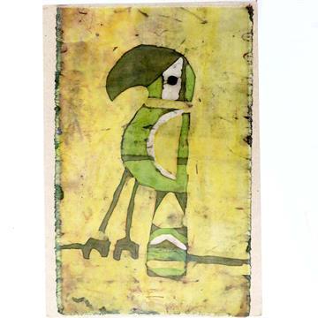Tucano 1 - Cartão Artesanal - BATIK