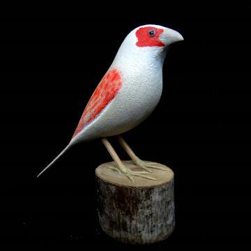 Canário-belga - Miniatura em madeira Valdeir José