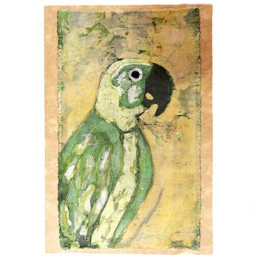 Papagaio 1 - Cartão Artesanal - BATIK
