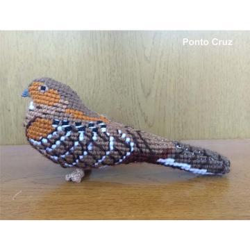 Bacurau - miniatura Pássaros Caparaó ponto-cruz