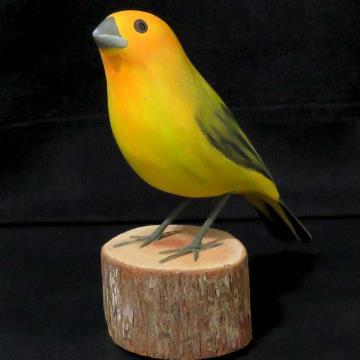 Canário-da-terra - Miniatura em madeira Valdeir José