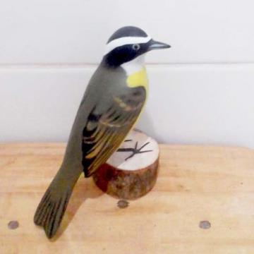 Bentevizinho - Miniatura em madeira Valdeir José