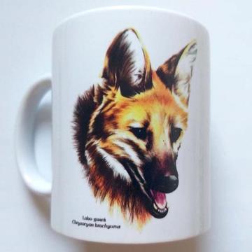 Lobo-Guará - caneca de porcelana