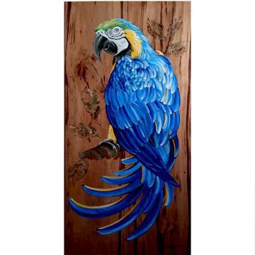Arara-canindé 2 - arte em madeira Bio & Mãe Terra