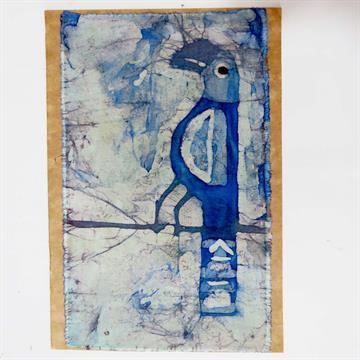 Arara-Azul - Cartão Artesanal - BATIK