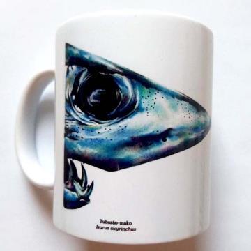 Tubarão-Mako - caneca de porcelana