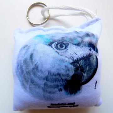 Ararinha-Azul - chaveiro de tecido