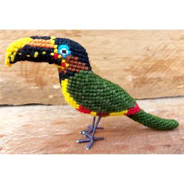 Araçari-castanho - miniatura Pássaros Caparaó ponto-cruz