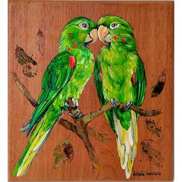 Periquitão - arte em madeira Bio & Mãe Terra
