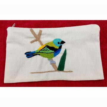 Saíra-sete-cores - Carteira de Pano com zíper - Pássaros Caparaó