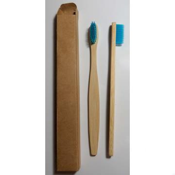 Escova dental biodegradável haste de bambu - AZUL