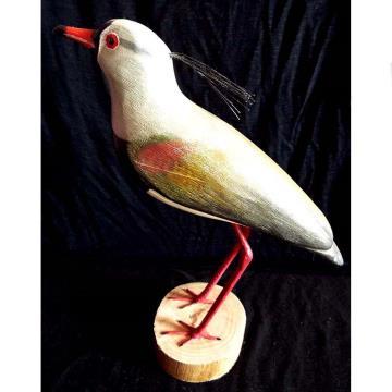 Quero-quero - Miniatura em madeira Valdeir José