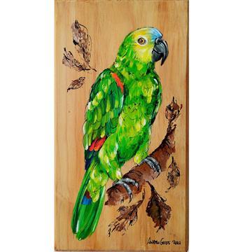 Papagaio-verdadeiro 2 - arte em madeira Bio & Mãe Terra