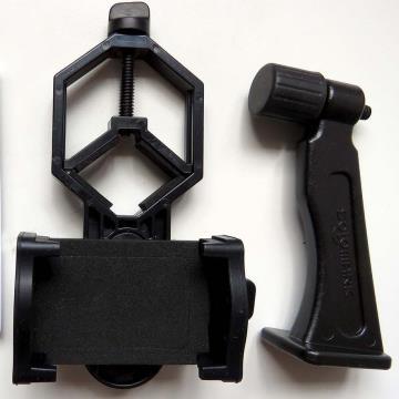 Kit para digiscoping 2: adaptadores para celular – tripé e binóculos
