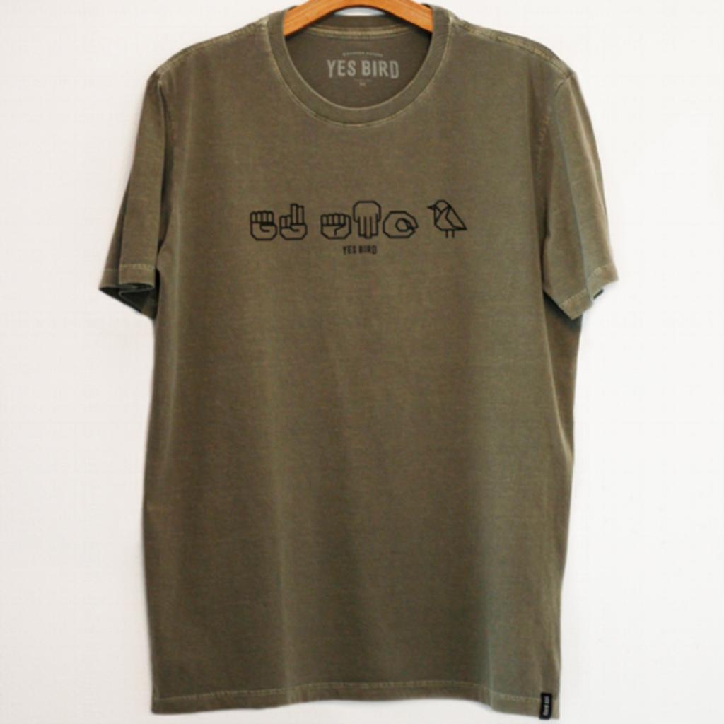 Camiseta Eu Amo Aves (Libras) - Yes Bird