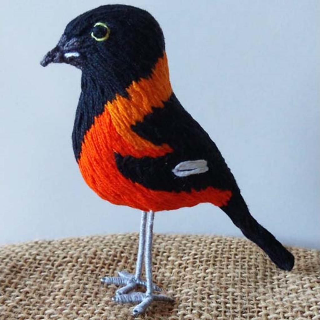 Corrupião - miniatura Pássaros Caparaó bordado