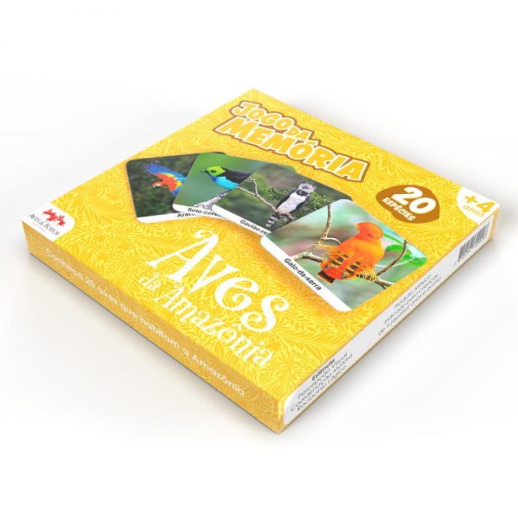 Jogo da Memória Aves da Amazônia