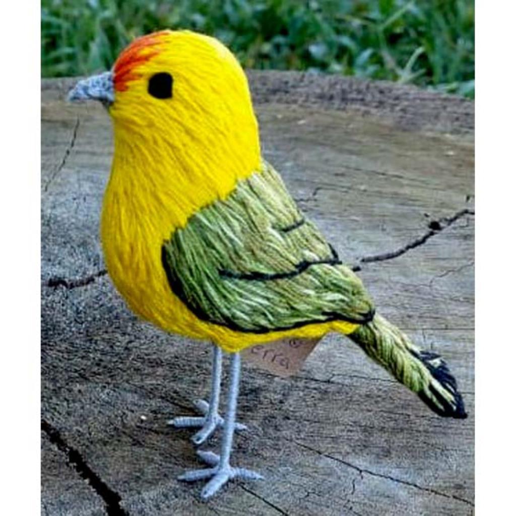 Canário-da-terra - miniatura Pássaros Caparaó bordado