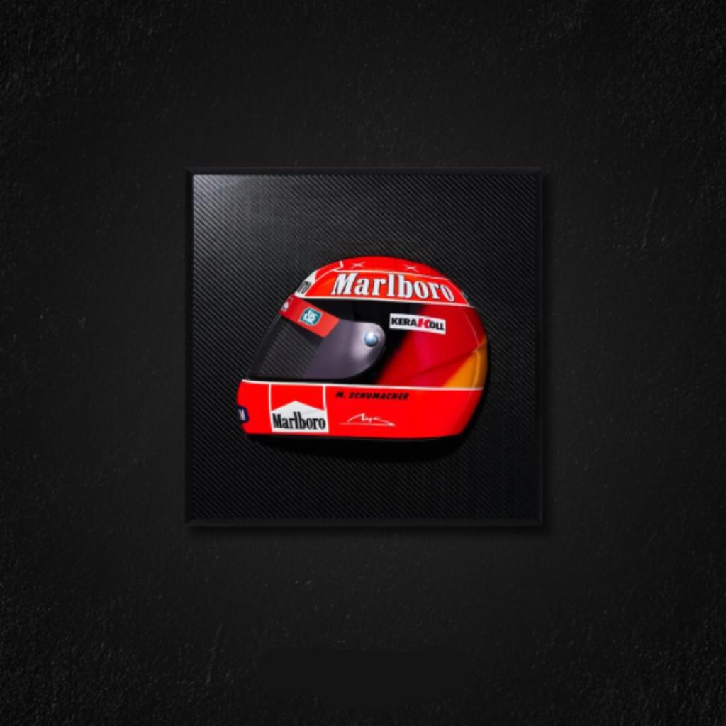 Quadro Capacete Schumacher 2000