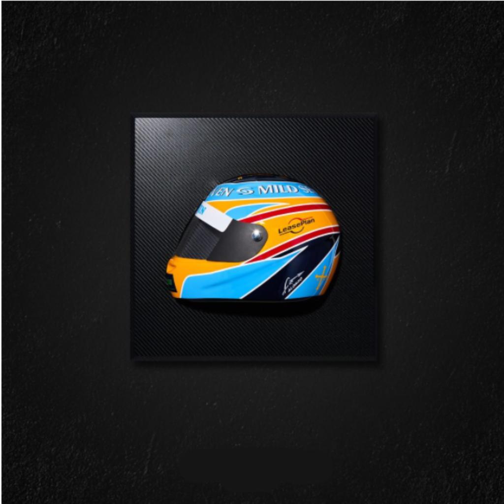 Quadro Capacete Renault R26 Alonso