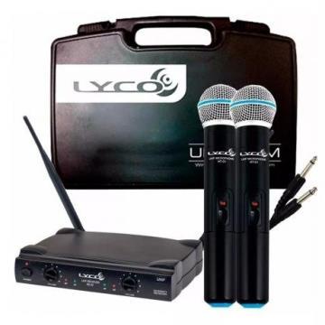 MICROFONE LYCO S/ FIO UHF DUPLO UM02MM
