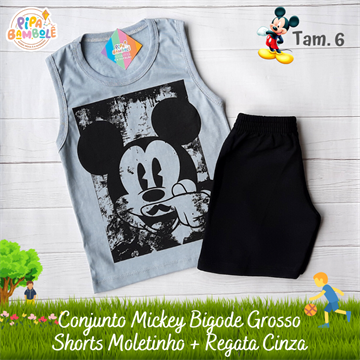 CONJUNTO REGATA + SHORTS MICKEY - 4/6/8