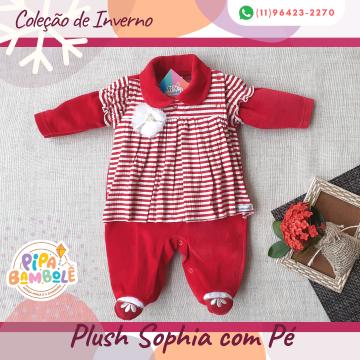 MACACÃO PLUSH FEM SOPHIA C/PÉ