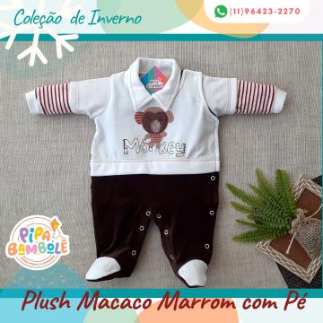 MACACÃO PLUSH MASC MACACO C/PÉ