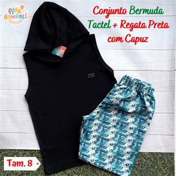 CONJUNTO REGATA C/ CAPUZ + BERMUDA TACTEL - 8/10/12