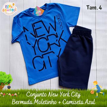 CONJUNTO CAMISETA + BERMUDA NEW YORK CITY - 4/6/8