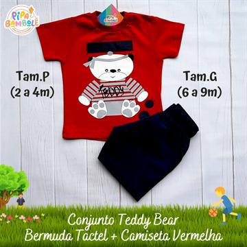 CONJUNTO CAMISETA + BERMUDA TEDDY BEAR - P/M/G