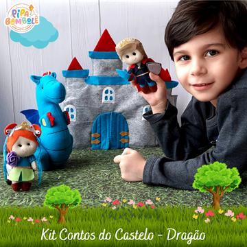 KIT CONTOS DO CASTELO DRAGÃO C/4 PEÇAS