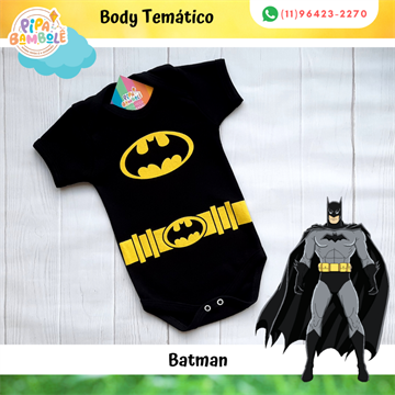 BODY TEMÁTICO MASC BATMAN P/M/G