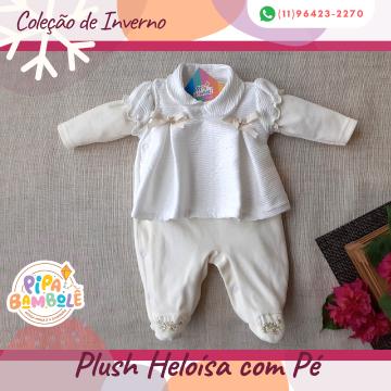 MACACÃO PLUSH FEM HELOÍSA C/PÉ