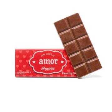 Barra de Chocolate ao leite Amor 50g - Prawer
