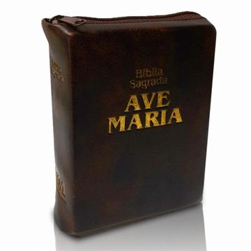 BÍBLIA AVE MARIA ZÍPER BOLSO