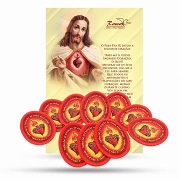 KIT ESCUDO CORAÇÃO DE JESUS - DETÉNTE (10 unidades)
