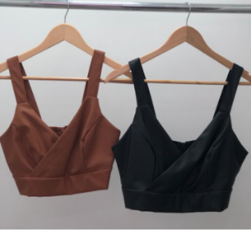 CROPPED COURO ECO